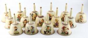 Lot Of Fifteen Hummel Porcelain Bells 1978-1992