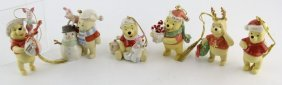 Lot Of 6 Lenox Porcelain Winne The Pooh Ornaments