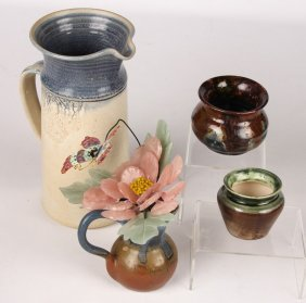 Lot Of Estate Art Ceramic Pottery Items