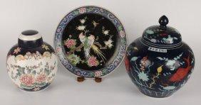 Lot Of Three Chinese Ceramic Pieces