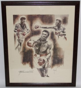 Muhammad Ali Print With Signature