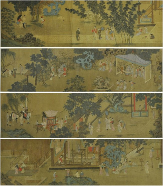 Antique Chinese Scrolls: Monumental Antique Chinese Scroll Painting : Lot 85