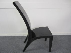 Karl Springer Style Tesselated Marble Desk Side Chair