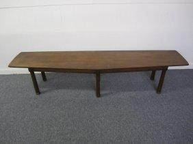 Dunbar Style Long Walnut Bench