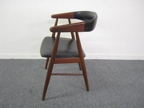 Danish Modern Signed Teak Dining Desk Chair