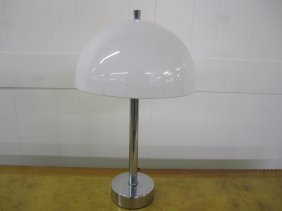 Panton Style White Domed Lamp Laurel
