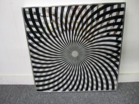 Fun Optical Illusion Black And Silver Mirror