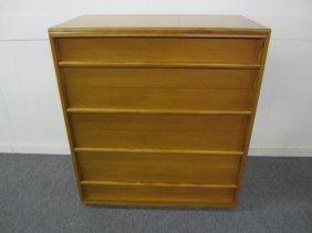 Robsjohn-gibbings For Widdicomb Walnut Tall Dresser