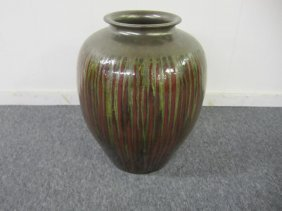 Large Drip Glaze Ceramic Floor Vase