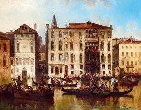 Joseph Carl Berthold Puttner, 1821-1881, Venice (canal