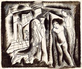 Kadar Bela , 1877-1956, Art Deco Scene