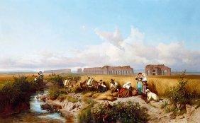 Marko Andras, 1824-1895, Landscape In Rome, 1872