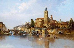 Karl Kaufmann, 1843-1901, Italian Town