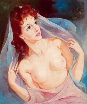Szantho Maria, 1897-1998, Beauty With Red Hair