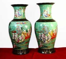 Pair Of Chinese Vases Jiaqing Period 1796-1820