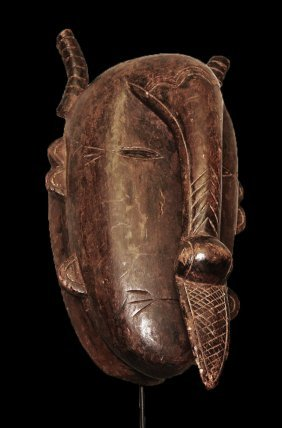 Old Carved Wood Bird Mask Bambara 53cm 21""