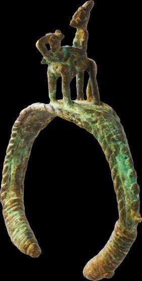 Mali Bronze Bracelet Of Dogon People. 1850 Ad