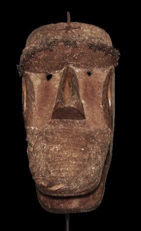 Old Liberia Khran People Carved Wooden Mask 32 Cm 12,5