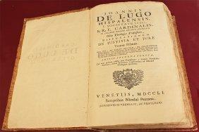 Joannis De Lugo Hispalensis Disputationum Justitia 1751