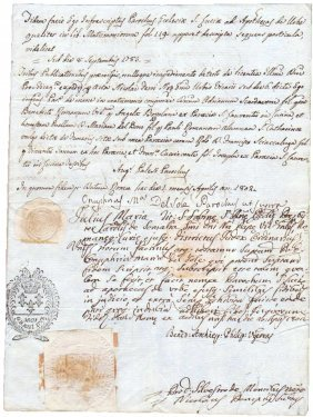 Rome 1802 Consulate Papal States Consule Vincenzo Mora