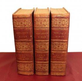 Holy Bible 1812 By The Rev J. Hewlett 3 Vol.