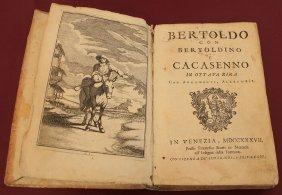 Bertoldo G. Cesare Venezia 1737 Vellum Cover