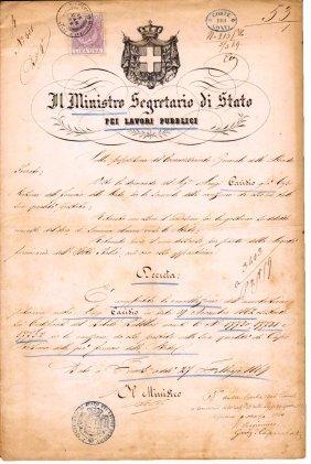 Florence 1869 Signature Public Minister L Pasini