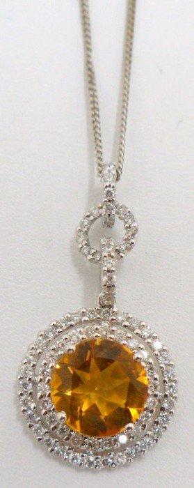 18 Kt. W.G. All Around Diamond & Cintrine Necklace
