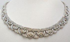 18K W.G. 3.50Ct Diamond Necklace