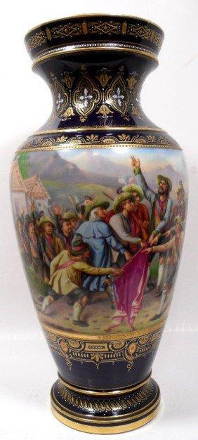 Royal Vienna Vase, Signed E. Latterman