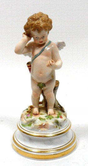 Meissen Porcelain Figure Of Cupid