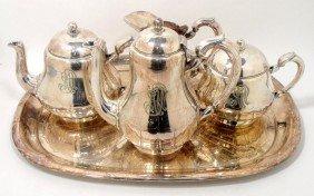 Christofle Silver Plate Tea Set (5pcs)