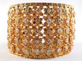 18K Yellow Gold Ladies Bangle Bracelet