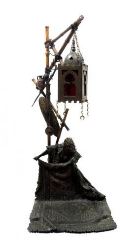 Antique Austrian Vienna Bronze Lamp