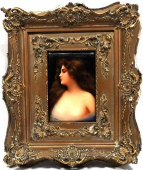 Wagner Signed Porcelain Plaque