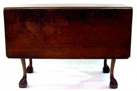 Chippendale Ball & Claw Flip Top Table