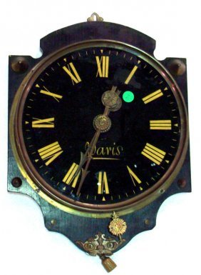 French Brass Wall Clock