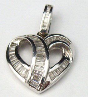 18kt WG & Diamond Heart Pendant