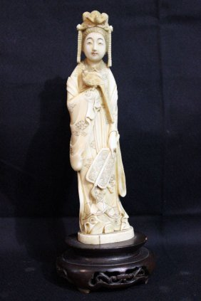 Chinese Carved Ivory Quan Yen