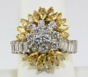 Hammerman Brothers 1950's Diamond Fashion Ring