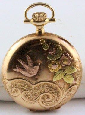 Victorian Yg Illinois Multi-colored Pocket Watch