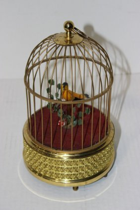 Beautiful Bird Cage Music Box