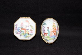 2 Pc. Limoges Hand Painted By Tiffany & Co. Porcelain
