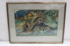 Emile Friesz (french 1879-1949) Watercolor