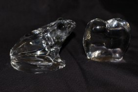 Two Baccarat Crystal Paperweights
