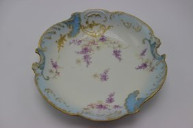 Limoges Hand Painted Scalloped Edge Bowl