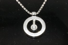 Roberto Coin 18kt Wg Precious Stone & Diamond Necklace
