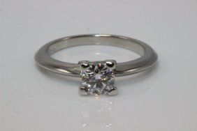 Harry Winston Platinum 0.50ct. Diamond Ring