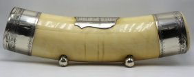 Rare Antique Ivory & Silver Plated Casket