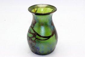 Loetz Phanomen La Pierre Silver Overlay Vase